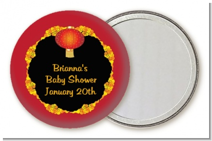 Chinese New Year Lantern - Personalized Baby Shower Pocket Mirror Favors