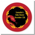 Chinese New Year Snake - Round Personalized Baby Shower Sticker Labels thumbnail