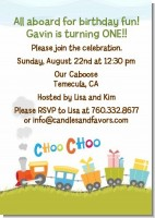 Choo Choo Train - Birthday Party Invitations