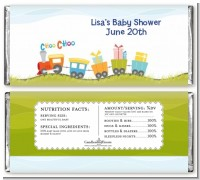 Choo Choo Train - Personalized Baby Shower Candy Bar Wrappers