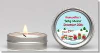 Choo Choo Train Christmas Wonderland - Baby Shower Candle Favors