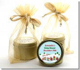 Choo Choo Train Christmas Wonderland - Baby Shower Gold Tin Candle Favors