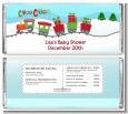 Choo Choo Train Christmas Wonderland - Personalized Baby Shower Candy Bar Wrappers thumbnail