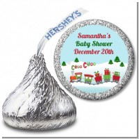 Choo Choo Train Christmas Wonderland - Hershey Kiss Baby Shower Sticker Labels