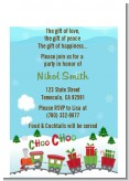 Choo Choo Train Christmas Wonderland - Baby Shower Petite Invitations