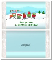 Choo Choo Train Christmas Wonderland - Personalized Popcorn Wrapper Christmas Favors