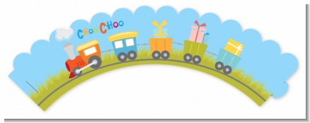 Choo Choo Train - Baby Shower Cupcake Wrappers