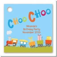 Choo Choo Train - Personalized Birthday Party Card Stock Favor Tags