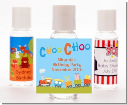 Choo Choo Train - Personalized Birthday Party Hand Sanitizers Favors