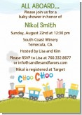 Choo Choo Train - Baby Shower Invitations