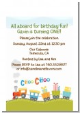 Choo Choo Train - Birthday Party Petite Invitations