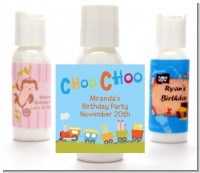 Choo Choo Train - Personalized Baby Shower Lotion Favors