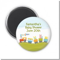 Choo Choo Train - Personalized Baby Shower Magnet Favors