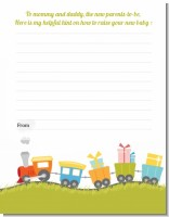 Choo Choo Train - Baby Shower Notes of Advice