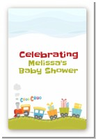 Choo Choo Train - Custom Large Rectangle Baby Shower Sticker/Labels