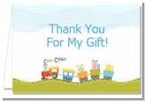 Choo Choo Train - Baby Shower Thank You Cards
