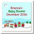 Choo Choo Train Christmas Wonderland - Personalized Baby Shower Card Stock Favor Tags thumbnail