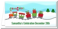 Choo Choo Train Christmas Wonderland - Personalized Baby Shower Place Cards