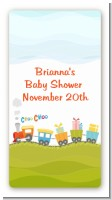 Choo Choo Train - Custom Rectangle Baby Shower Sticker/Labels