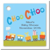 Choo Choo Train - Personalized Baby Shower Card Stock Favor Tags