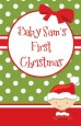 Christmas Baby Caucasian - Personalized Baby Shower Wall Art thumbnail