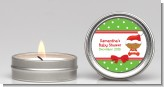 Christmas Baby African American - Baby Shower Candle Favors