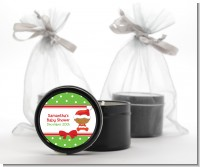 Christmas Baby African American - Baby Shower Black Candle Tin Favors