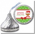 Christmas Baby African American - Hershey Kiss Baby Shower Sticker Labels thumbnail