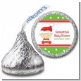 Christmas Baby Caucasian - Hershey Kiss Baby Shower Sticker Labels thumbnail