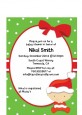 Christmas Baby Caucasian - Baby Shower Petite Invitations thumbnail