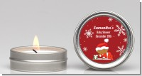 Christmas Baby Snowflakes African American - Baby Shower Candle Favors