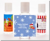 Christmas Baby Snowflakes African American - Personalized Christmas Hand Sanitizers Favors