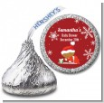 Christmas Baby Snowflakes African American - Hershey Kiss Baby Shower Sticker Labels thumbnail