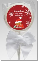 Christmas Baby Snowflakes African American - Personalized Baby Shower Lollipop Favors