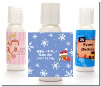 Christmas Baby Snowflakes African American - Personalized Christmas Lotion Favors