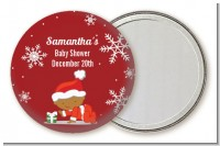 Christmas Baby Snowflakes African American - Personalized Baby Shower Pocket Mirror Favors