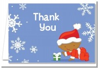 Christmas Baby Snowflakes African American - Baby Shower Thank You Cards