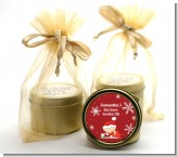 Christmas Baby Snowflakes - Baby Shower Gold Tin Candle Favors