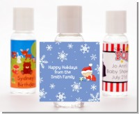 Christmas Baby Snowflakes - Personalized Christmas Hand Sanitizers Favors