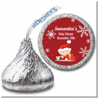 Christmas Baby Snowflakes - Hershey Kiss Baby Shower Sticker Labels
