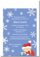 Christmas Baby Snowflakes - Baby Shower Petite Invitations
