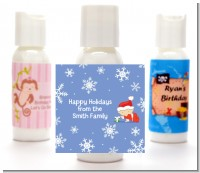 Christmas Baby Snowflakes - Personalized Christmas Lotion Favors
