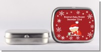 Christmas Baby Snowflakes - Personalized Baby Shower Mint Tins