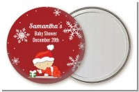 Christmas Baby Snowflakes - Personalized Baby Shower Pocket Mirror Favors