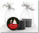 Christmas Boy - Christmas Black Candle Tin Favors