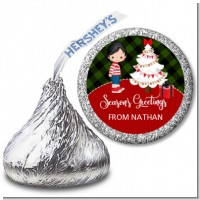 Christmas Boy - Hershey Kiss Christmas Sticker Labels