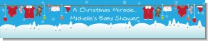 Clothesline Christmas - Personalized Baby Shower Banners