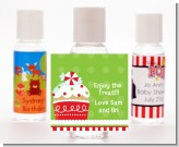 Christmas Cupcake - Personalized Christmas Hand Sanitizers Favors