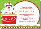 Christmas Cupcake - Christmas Invitations