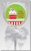 Christmas Cupcake - Personalized Christmas Lollipop Favors